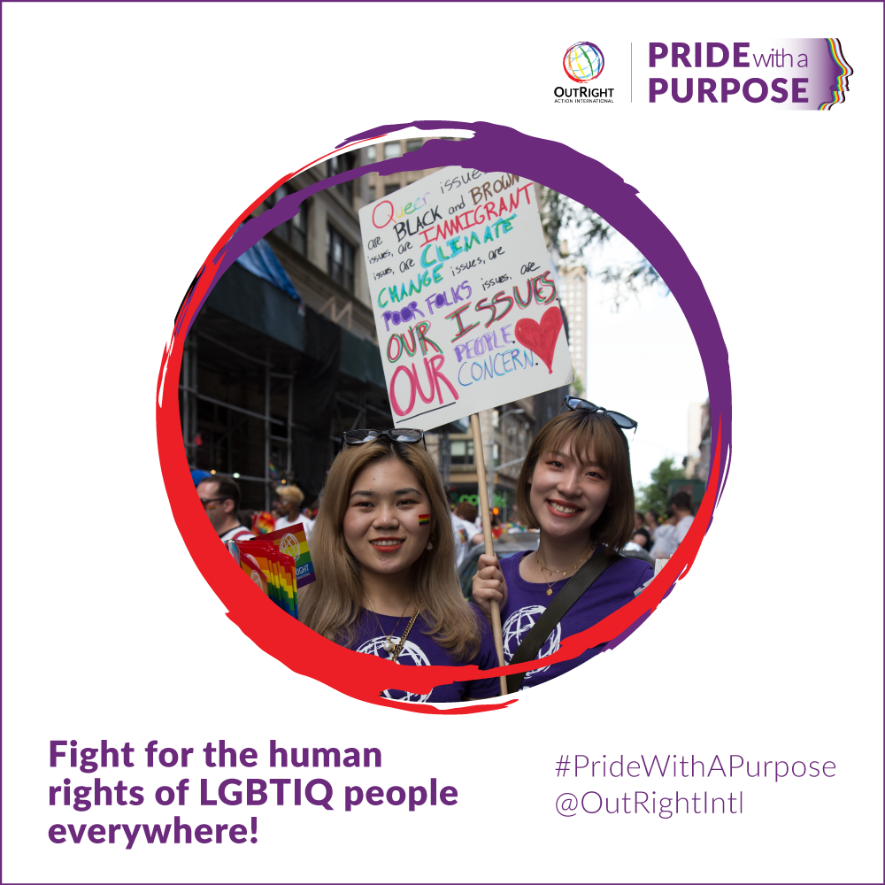 Fight for the human rights of LGBTIQ people everywhere!